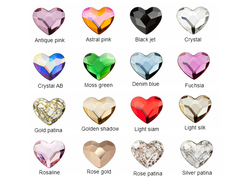 Crystal heart colors